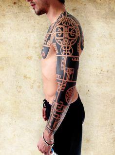 Michelangelo Cornini See more artist profiles! www.tattoodlifestyle.com #tattoo #tribal #tattood #magazine #ink #artist