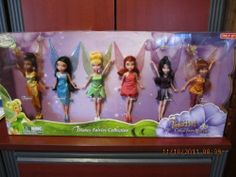 """Disney Tinker Bell and the Great Fairy Rescue 6 Doll Fairies Collection Pack by disney. $59.99. No two packages look the same, on the back packaging has different descriptions of each fairy.; Dolls come with fashions and 6 pair of shoes.; The manufacturer made packaging corrections on back.; Includesd Six 9"""" Doll from the movie Tinker Bell and the Great Fairy Rescue. Transform playtime into a magical visit to Pixie Hollow with this Disney Fairies Dolls Collector Pack. Tinker..."""