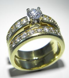 18ct Engagement & Wedding Ring Set - Pawnbank Diamond Wedding Sets, Engagement Wedding Ring Sets, Wedding Rings, Sale Items, Auction, Jewellery, Watches, Gold, Photography