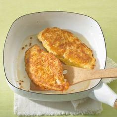 Hähnchenbrust in Käse-Ei-Hülle