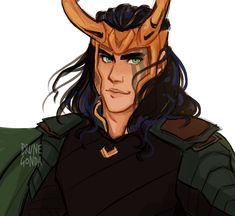 Loki face paint