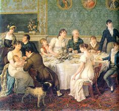 Regency Breakfast - I would love to know the artist who painted this if anyone knows :)