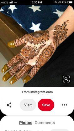 Round Mehndi Design, Henna Flower Designs, New Henna Designs, Full Hand Mehndi Designs, Finger Henna Designs, Simple Arabic Mehndi Designs, Mehndi Designs For Girls, Mehndi Designs For Beginners, Heena Design