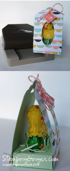 Scallop Tag Topper Chocolate Chicken Coop - Ginger Rabesa - Directions in the post.