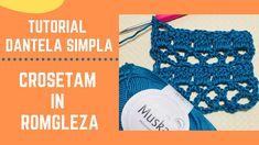 Cum Crosetam Dantela Simpla - How to Crochet Easy Lace Easy Crochet, Friendship Bracelets, Crochet Necklace, Crochet Collar, Friendship Bra, Single Crochet