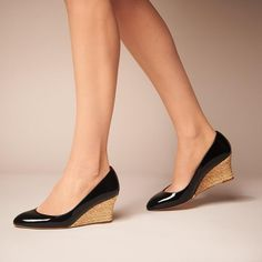 Eevi Black Patent Leather Wedge | New Arrivals | Shoes | Collections | L.K.Bennett, London