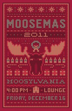 Moosemas Christmas seater style poster for a company holiday part- love it!