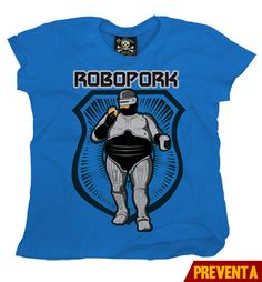 """Playera Robo Pork ""  Morra  disponible en www.kingmonster.com.mx"