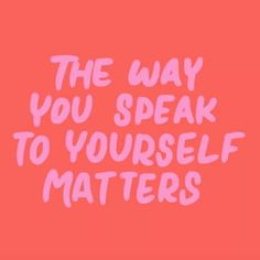 Quotes for Motivation and Inspiration QUOTATION - Image : As the quote says - Description The way you speak to yourself matters Motivacional Quotes, Words Quotes, Wise Words, Sayings, Happy Quotes, Bible Quotes, Pretty Words, Beautiful Words, Cool Words