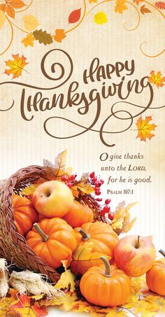 Offering Envelope - Fall & Thanksgiving - Happy Thanksgiving (Pack of Happy Thanksgiving Wallpaper, Happy Thanksgiving Images, Thanksgiving Messages, Thanksgiving Blessings, Thanksgiving Greetings, Thanksgiving Decorations, Thanksgiving Cornucopia, Psalm 107 1, Psalms