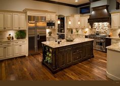 Oakley Home Builders traditional kitchen! My dream kitchen Kitchen Cabinet Colors, Kitchen Redo, New Kitchen, Kitchen Ideas, Awesome Kitchen, Kitchen Colors, Kitchen Photos, Warm Kitchen, Country Kitchen