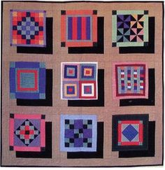 Floating Amish sampler quilt pattern by Ann Anderson, Quilt Woman Designs.