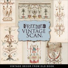 Far Far Hill: New Freebies Kit - Vintage Decor from Old Book