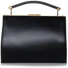 Black Handbag with Top Handle ($1,995) ❤ liked on Polyvore featuring bags, handbags, handbags bags, top handle purse, handbag purse, purse bag and man bag