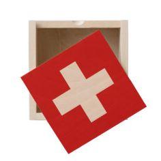 Switzerland flag wooden keepsake box