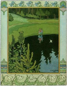 zijperspace:  Flowers, Fairytales & Bilibin, Day XI:'The Children and the Little White Duck'.
