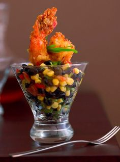 Coconut Shrimp with Roasted Corn and Black Bean Salsa    www.proofpudding.com