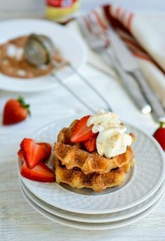 Start your morning off on a *sweet* note with this yummy Cinnamon Sugar Churro Waffles recipe.