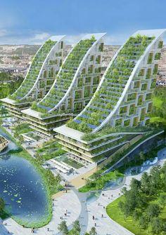 Architecture Durable, Architecture Unique, Futuristic Architecture, Sustainable Architecture, Landscape Architecture, Interior Architecture, Park Landscape, Computer Architecture, Sustainable City
