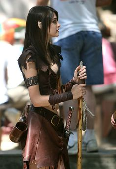 OoOo! I'd love her arms braces and skirt! They're super awesome! :)