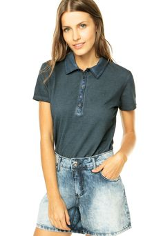 Camisa Polo Forum Azul - Compre Agora  4b8691026dfc6