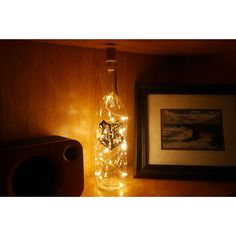$16.49 // Light up your world with this awesome Hogwarts crest string lights glass bottle. Available now via our Etsy store. Decor, Glass Bottles, Apartment Walls, Lights, Light Up Bottles, Light, Light Up, White Walls, Decorating Your Home
