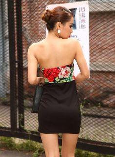 hego Printing Stitching Tee Dress FQ010E,  Dress, Printing Stitching Tee Dress, Chic