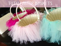 tutu easter basket tutorial