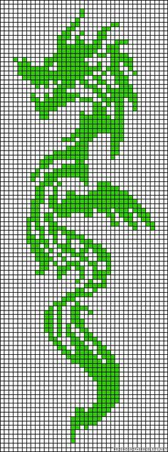 Dragon perler bead pattern