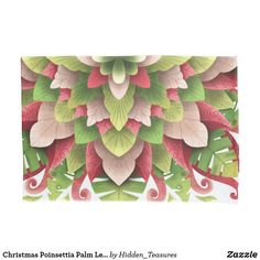 Christmas Poinsettia Palm Leaves Mandala Pillow Case Christmas Mandala, Christmas Poinsettia, Counting Sheep, Holiday Cards, Pillow Cases, Vibrant Colors, Palm, Pillows