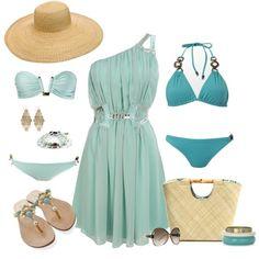 turquoise beach wear!