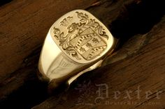 Tudor Style Arms / 'Show Engraving' / Cushion Signet Ring Diy Jewelry Rings, Clean Gold Jewelry, Gentleman, Family Crest Rings, Tudor Style, Engraved Rings, Signet Ring, Hand Engraving, Ring Bracelet