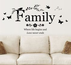 Hey, I found this really awesome Etsy listing at https://www.etsy.com/uk/listing/273574798/family-where-life-begins-quote-vinyl