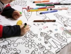 Nappe à colorier : une occupation toute trouvée pour les enfants ! - Source : Le coin des créateurs