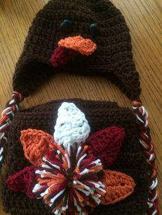 Gobble gobble! Turkey crochet newborn outfit. D&K boutique  https://m.facebook.com/profile.php?id=435286486567712