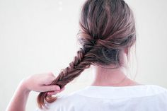 How to Fishtail Braid: 11 Steps - wikiHow - I don't know why there are two methods here, it's not really 11 steps. Surprisingly easy to learn!