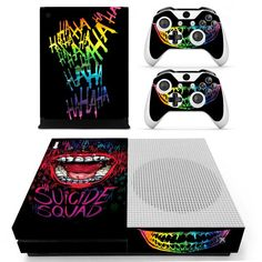 Dc Film The Joker Skin Sticker Decal For Xbox One S Console And Kinect And 2 Controllers For Xbox One Slim Skin Sticker Vinyl Best Superhero, Superhero Design, Overwatch Xbox, Black Xbox, Joker, Shops, Xbox One Console, One Piece Luffy, Xbox One S
