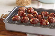 Bacon-Wrapped Feta & Almond-Stuffed Dates recipe