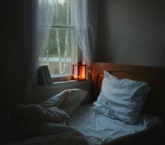 because it reminds me so much of my grandpa's room...the window right next to the bed and the breeze that came in...so cozy.