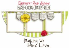 A cluster freebie from the Baked Goods collection at Raspberry Road Designs.