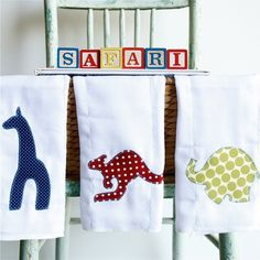 Safari Applique Set! Adorable to the last stitch!