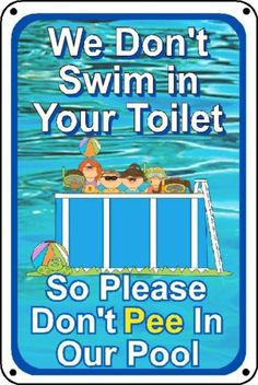 What pool sign no peeing in pool