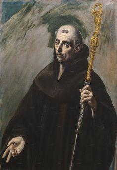 """El Greco (1541-1614) """" San Benito"""" The Prado Museum. Madrid"""