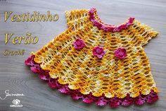 """Bom dia pessoal! Aula de hoje """"vestidinho de crochê verão"""" vamos fazer?  https://youtu.be/7Db4CcxjD2A #crochet #professorasimone #semprecirculo"""