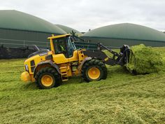 Pushing up the clamp with the Volvo L70H loader! #farming #silage #volvo