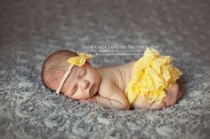 Upcycled yellow and white Fabric Bow Halo by CremeDeLaBaby on Etsy, $12.00