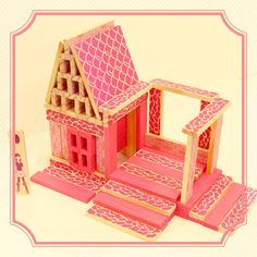 Love #dollhouses?  Check out one of the designs in our #Citiblocs #dollhouse set!  #eco-friendly, #toy, #blocs, #wood, #buildanything, #kids