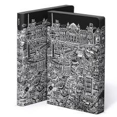 Nuuna BERLIN Graphic L Notizbuch  Design Notizbuch mit Berlin Cover im Graphic Novel-Look. Softes Bonded Leather der Extraklasse. Für Hipster und Yuccies aus Mitte viel zu schade.€24.90