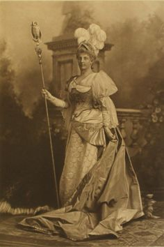 The Countess of Gosford as an 18th century version of Minerva, goddess of wisdom ; the Duchess of Devonshire's Jubilee Costume Ball of 1897