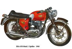 1966 - BSA 650 Mark 2 Spitfire - Promotional Advertising Poster